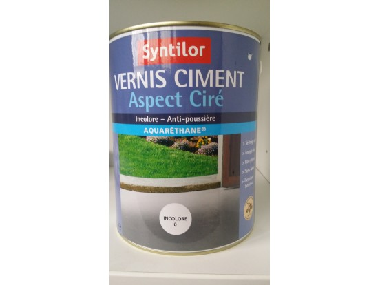Vernis ciment aspect ciré Syntilor
